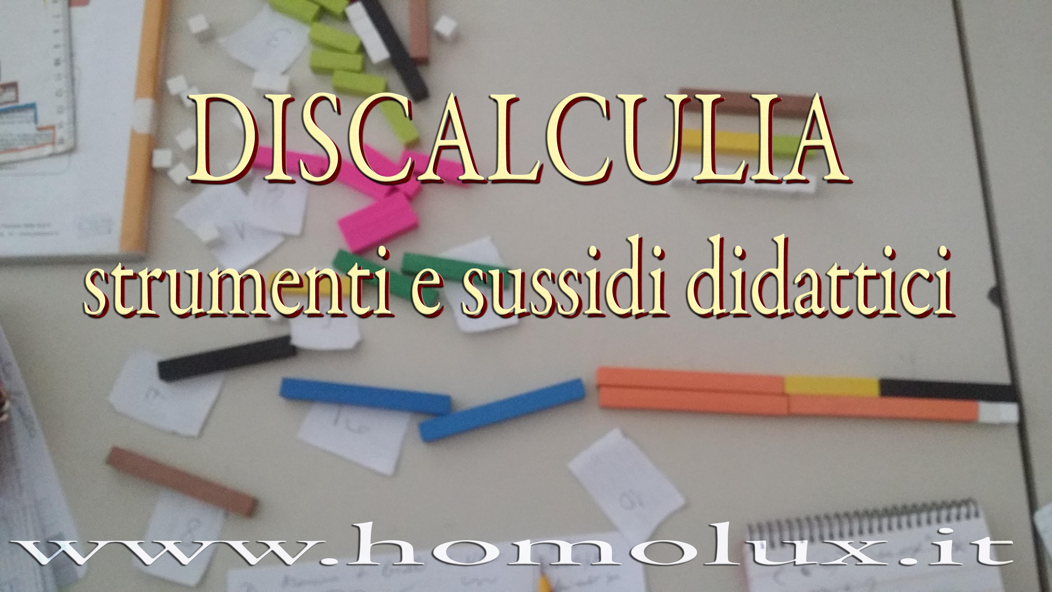 discalculia strumenti e sussidi didattici