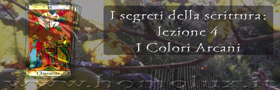 i segreti della scrittura lezione 4 i colori dei simboli arcani