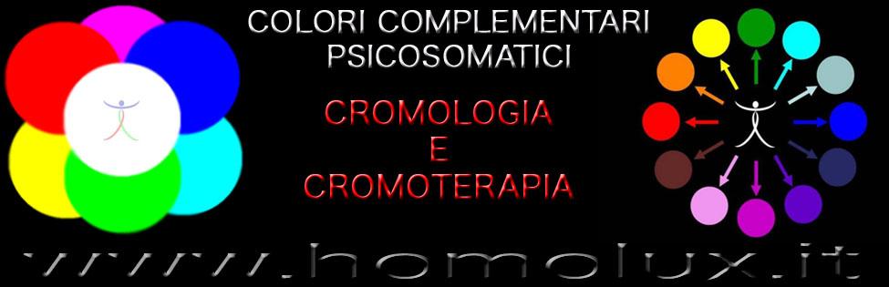 colori complementari psicosomatici  in cromologia e cromoterapia