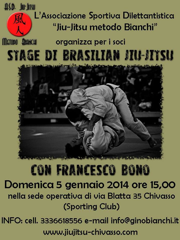 Francesco Bono Stage Bjj Chivasso ASD Jiu-jitsu Metodo Bianchi