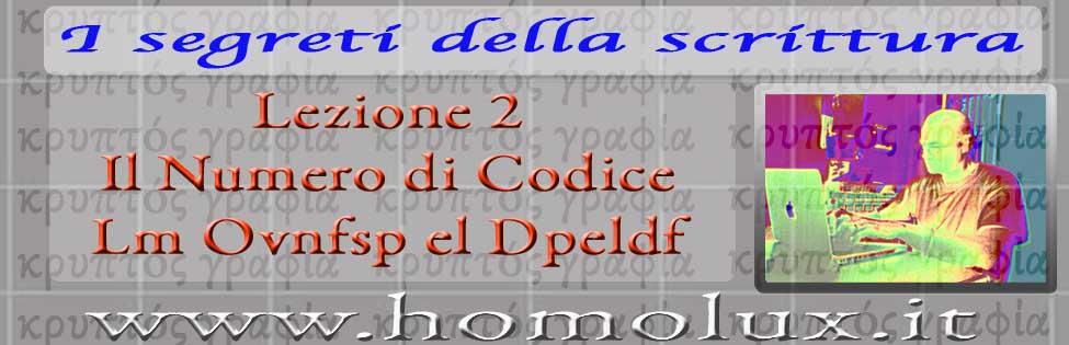 i segreti della scrittura lezione 2 il numero di codice