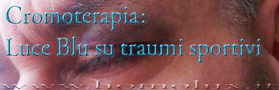 cromoterapia blu su occhio