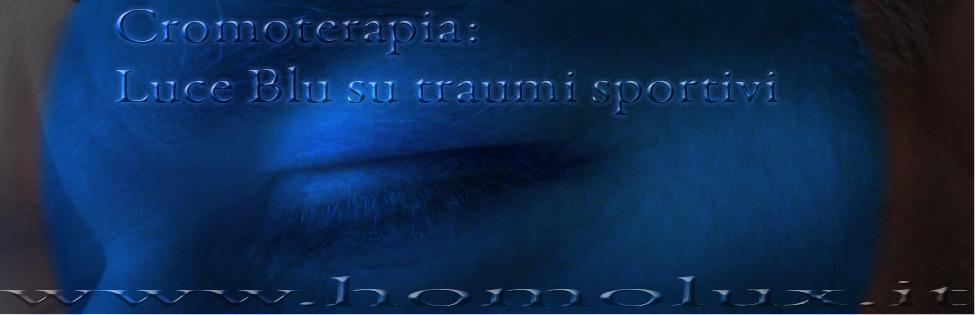 cromoterapia luce blu su occhio ematomi e lividi da traumi sportivi