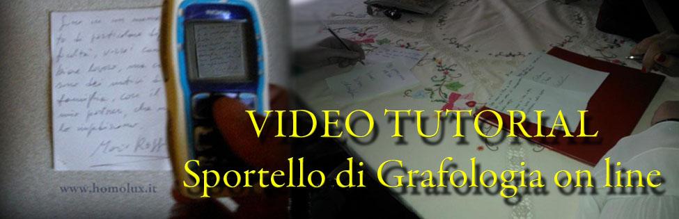 video tutorial sportello di grafologia on line