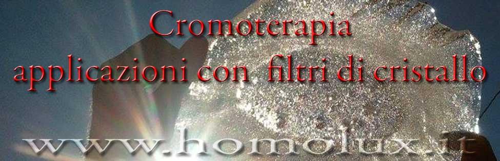 cromoterapia applicazioni con filtri di cristallo