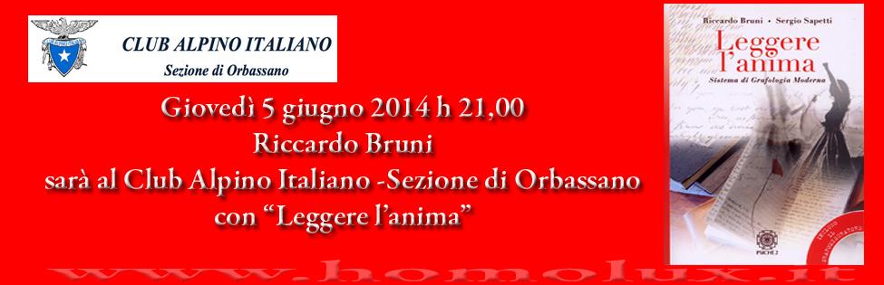 grafologia al club alpino italiano sezione di orbassano