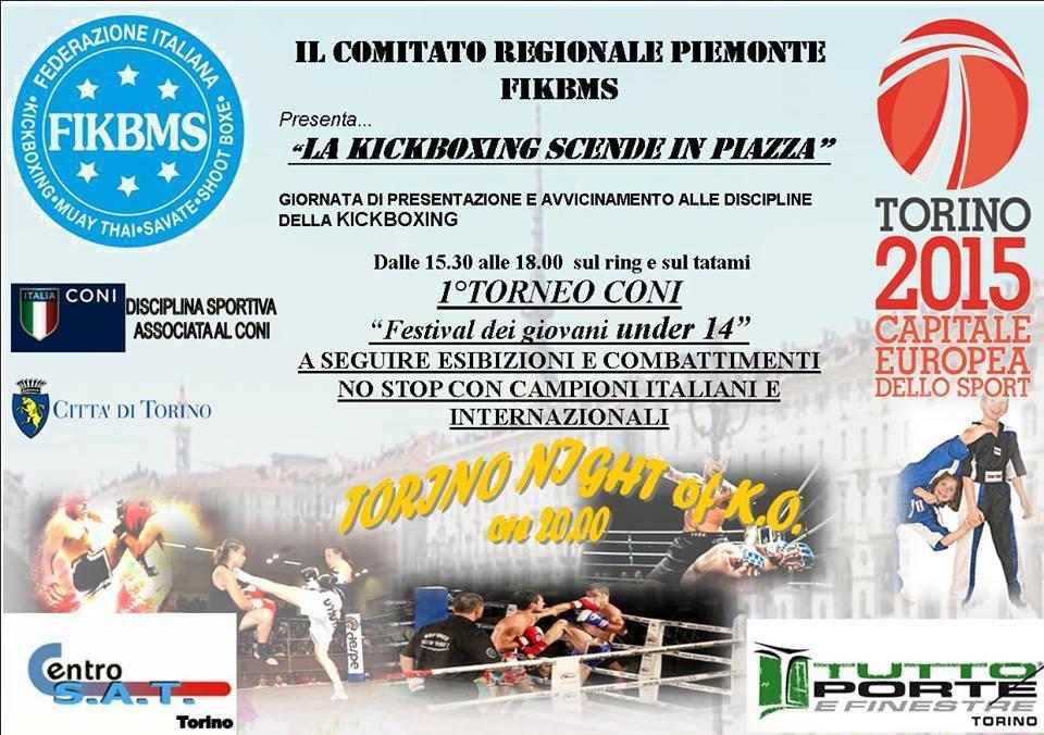 Kick Boxing a Torino in Piazza Vittorio