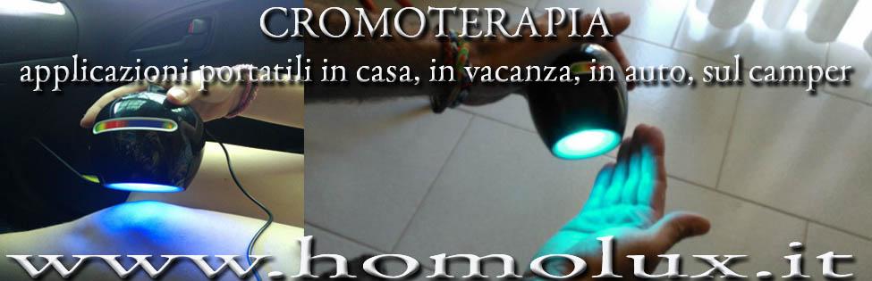 cromoterapia in casa e in vacanza in auto e in camper