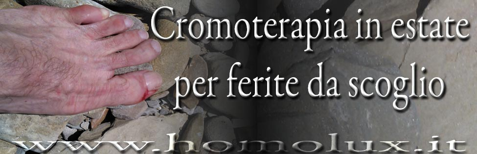 cromoterapia in estate per ferite da scoglio