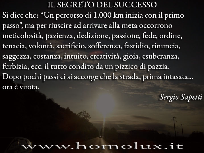 segreto del successo