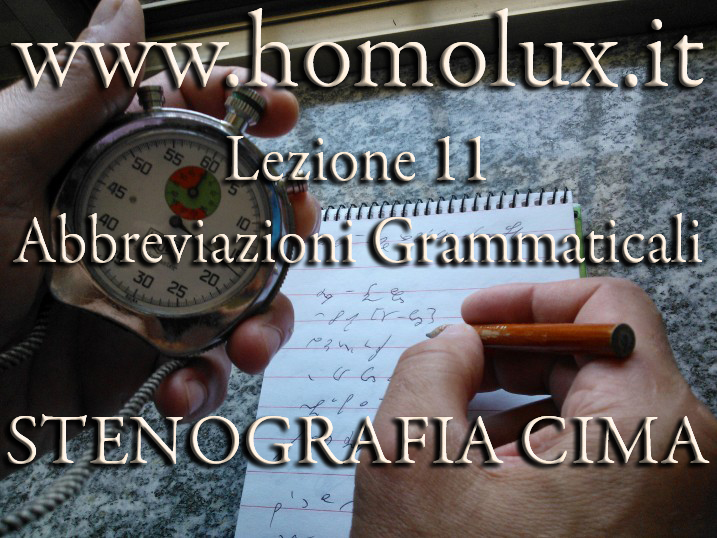 stenografia cima abbreviazioni grammaticali