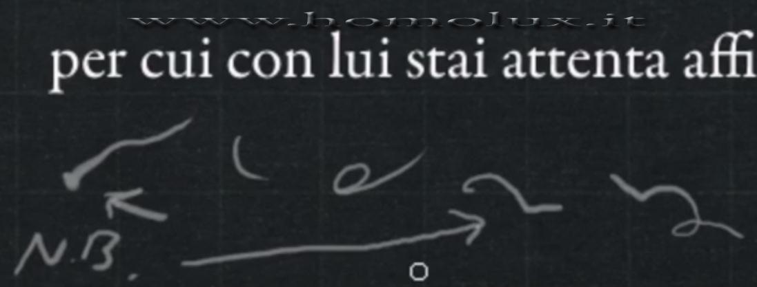 stenografia cima casi particolari