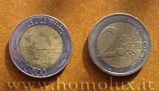 2 euro 500 lire