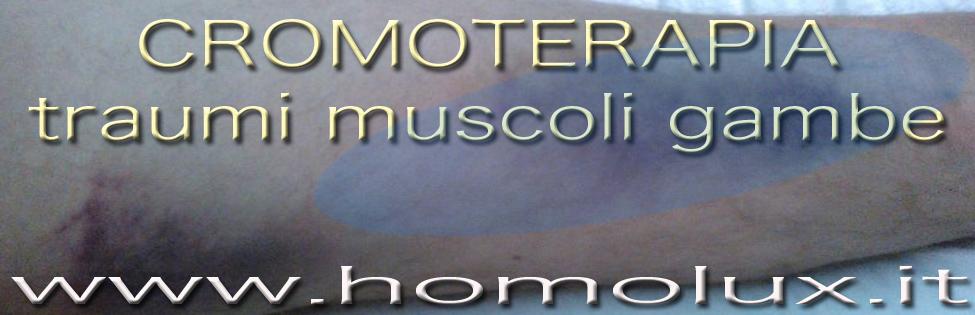 cromoterapia traumi muscoli gambe