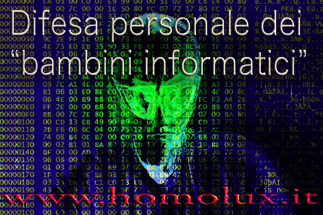 difesa personale dei bambini informatici