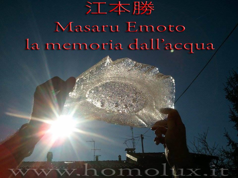 masaru emoto la memoria dall'acqua