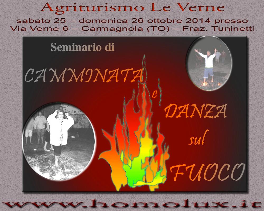 seminario di camminata - danza sul fuoco