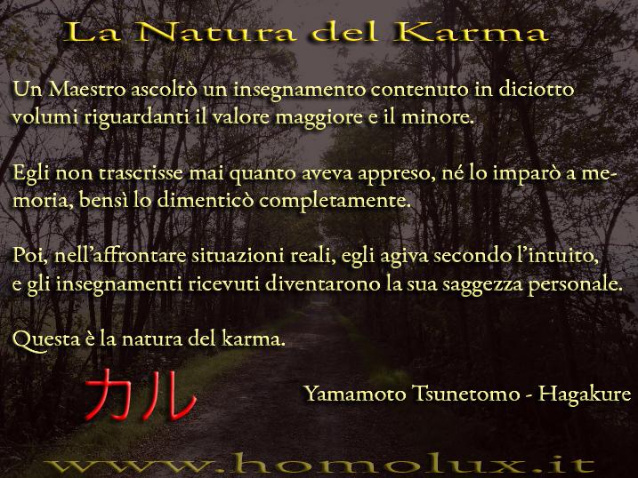 la natura del karma