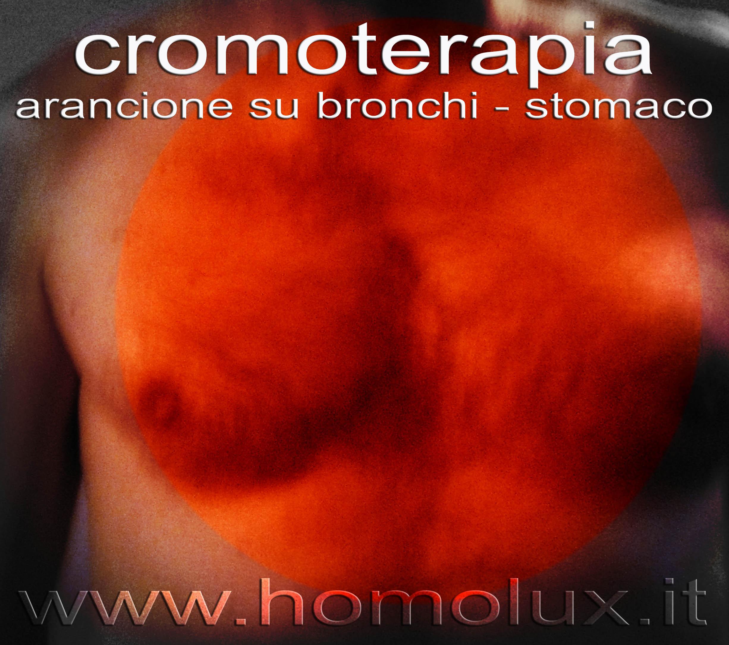 cromoterapia arancione su bronchi stomaco