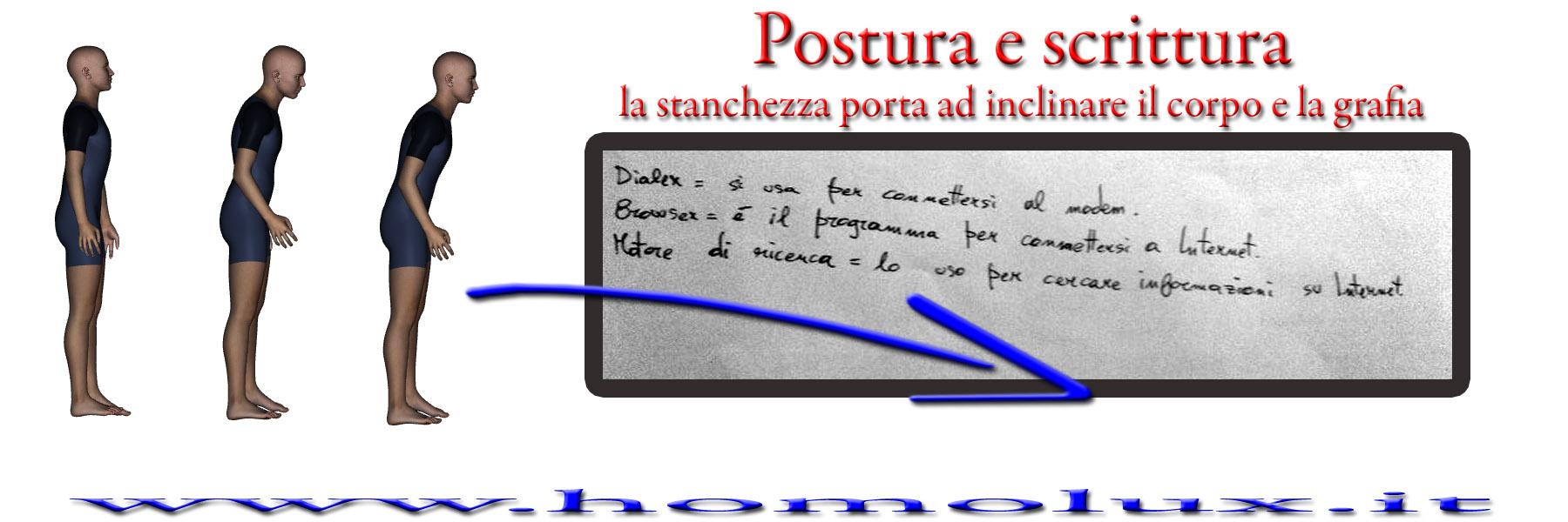 postura e scrittura