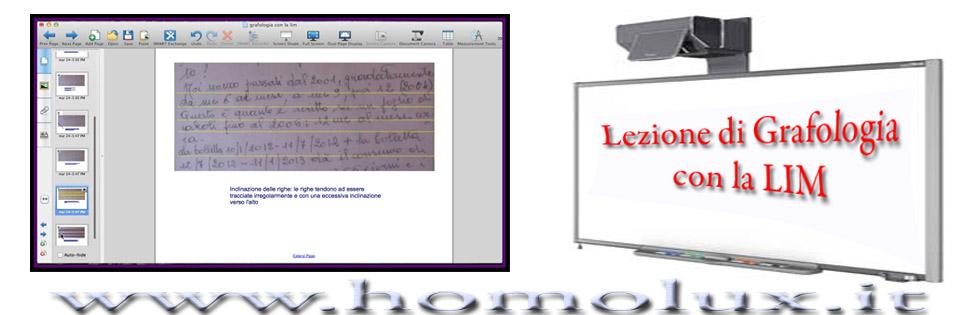 lezione di grafologia con la LIM