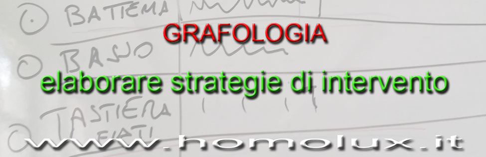 grafologie elaborare strategie di intervento