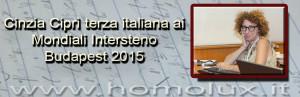cinzia ciprì terza italiana ai mondiali intersteno budapest 2015