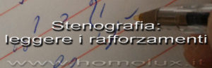 stenografia leggere i rafforzamenti