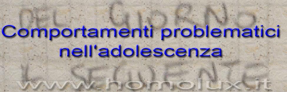 Comportamenti problematici nell'adolescenza