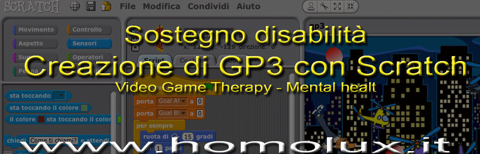 Sostegno disabilità: Creazione video game GP3 con Scratch