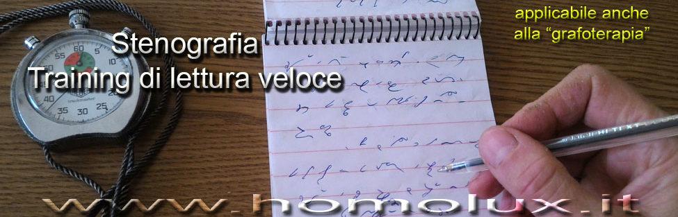 Stenografia: training lettura veloce