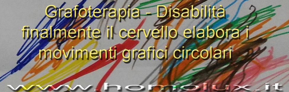 Grafoterapia – Disabilità: finalmente il cervello elabora i movimenti grafici circolari