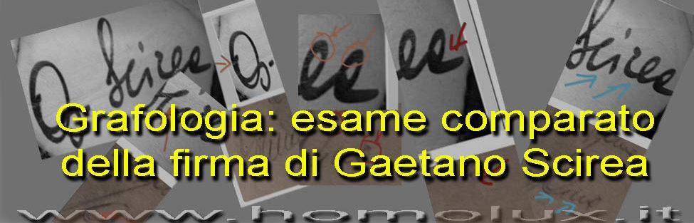 Grafologia: esame comparato della firma di Gaetano Scirea